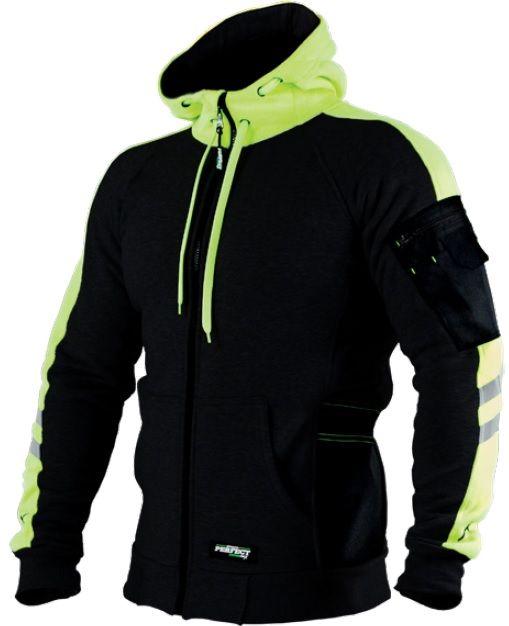 Kapucnis pulóver, fekete,  XL , MECHANICK, STALCO PERFECT POWERMAX